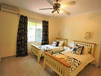 7 large bedrooms, 5 double with queen sized beds, 4 twin with single beds. Upstairs bedroom has terrace with sea view.