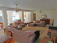 Lounge has large satellite TV, DVD library, CDs, Wi-Fi throughout villa, large selection of games