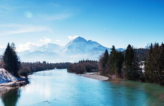 Peaceful mountain setting