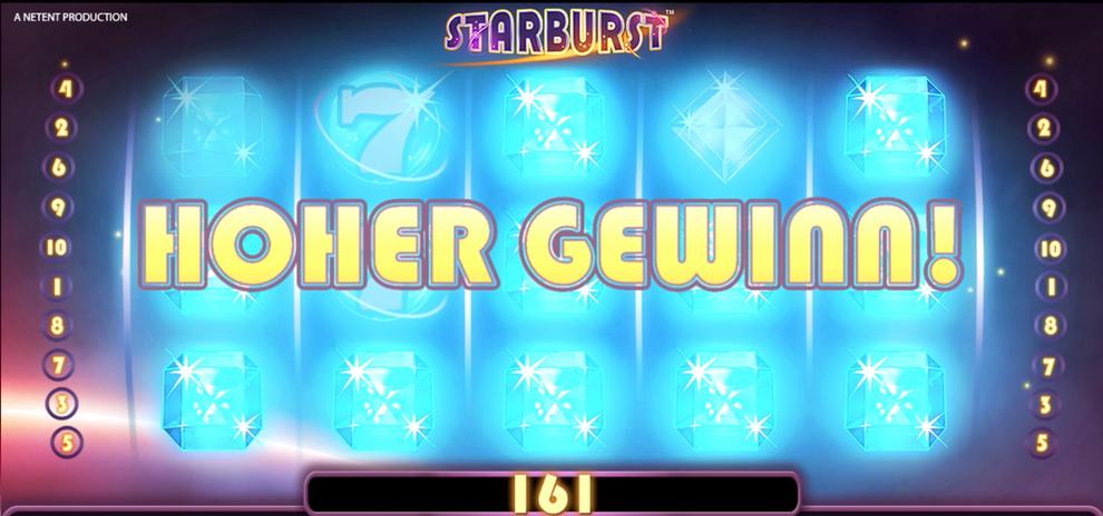 Animation eines Gewinns bei Starburst