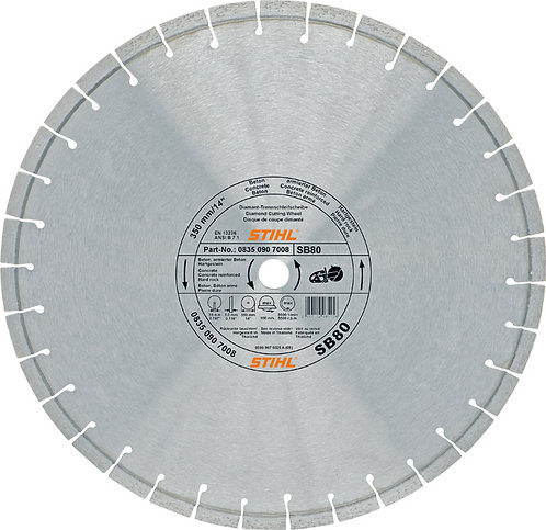 Diamond cutting wheel - Hard stone / Concrete (SB)