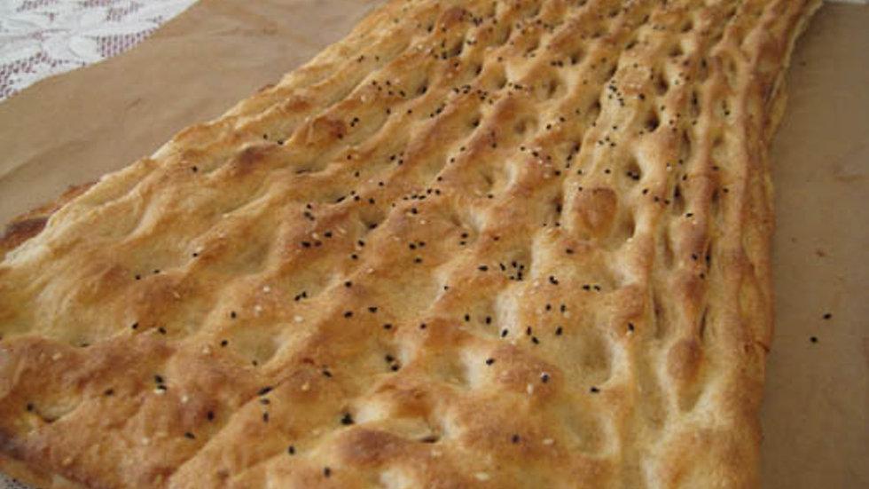 Fresh Barbari bread (Afghani Naan)