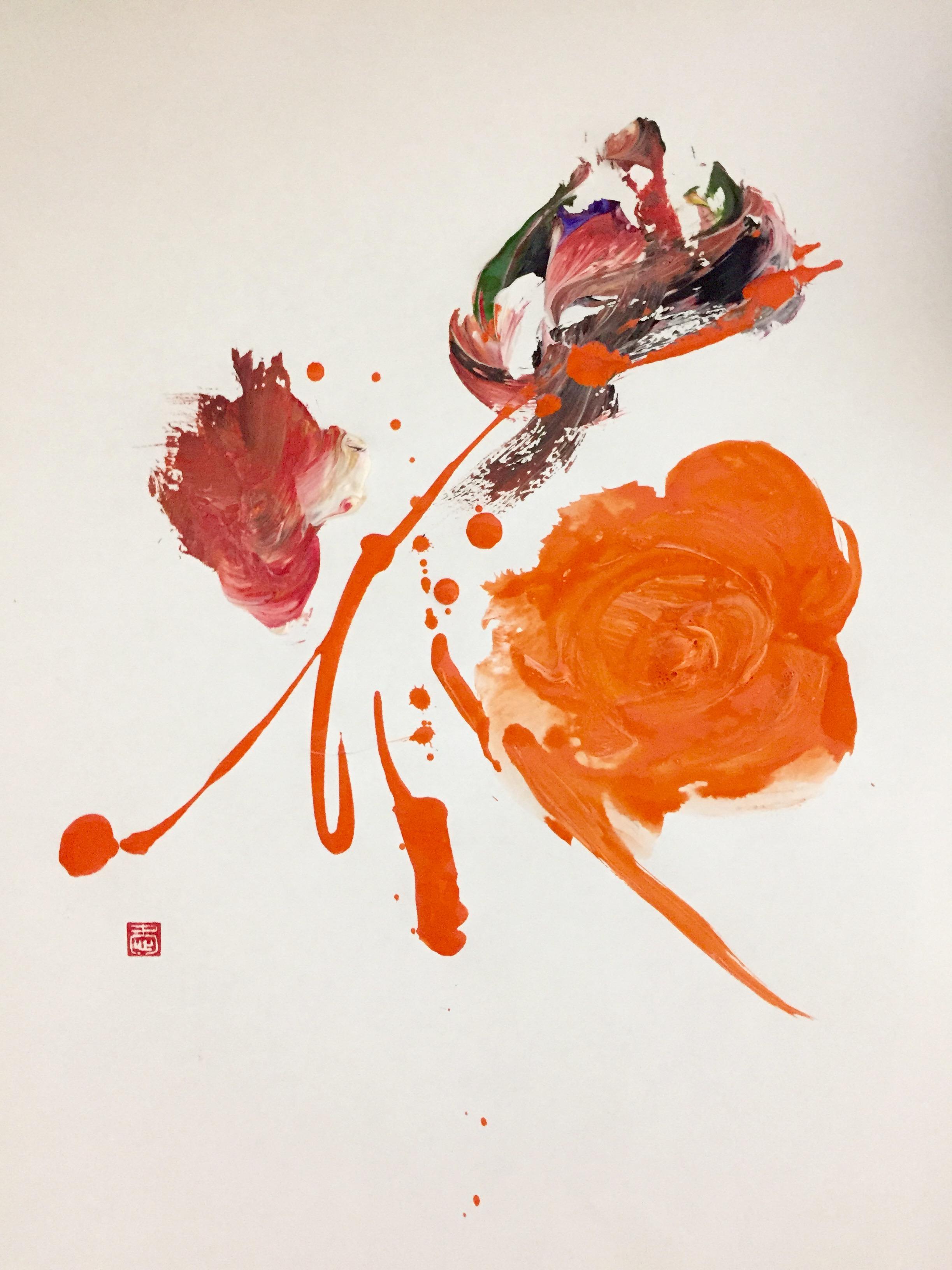 Flower 1 (Orange)