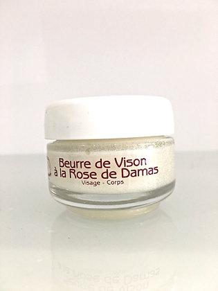 BEURRE DE VISON A LA ROSE DE DAMAS