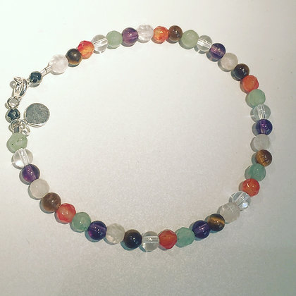 BRACELET PIERRES FINES FACETTEES / REAL STONE FACETTE 4MM