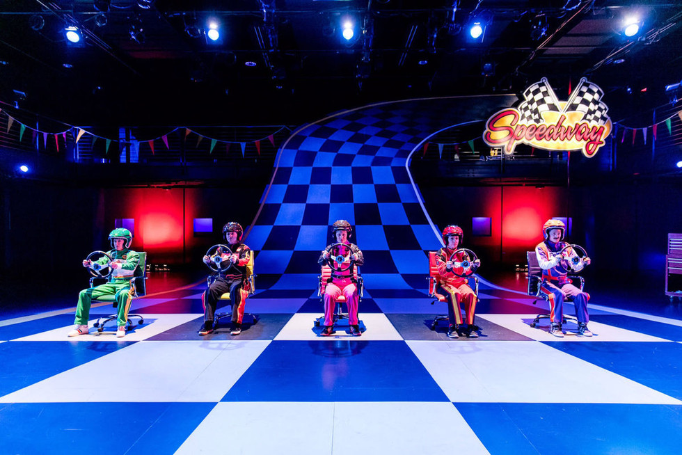 """Kenny """"Hotshot"""" Kane the 3rd in VROOOMMM! at Triad Stage  Photo by Bert VanderVeen"""