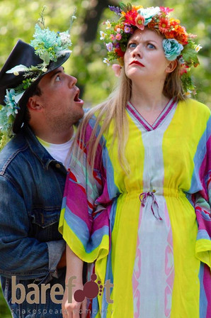 Titania in A Midsummer Night's Dream with Barefoot Shakespeare Company  Photo by Jillian Musarskiy