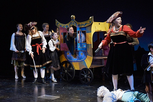 The Robber Girl in The Snow Queen at Portland Stage Company  Photo by Aaron Flacke