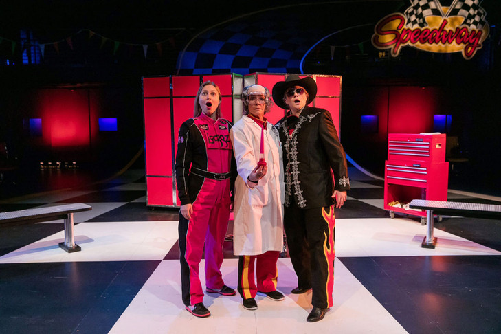 The Man In The Hat in VROOOMMM! at Triad Stage  Photo by Bert VanderVeen
