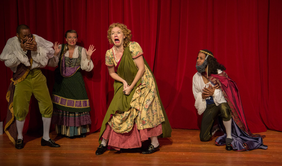 Nell in Nell Gwynn at Synchronicity Theatre  Photo by Jerry Siegel