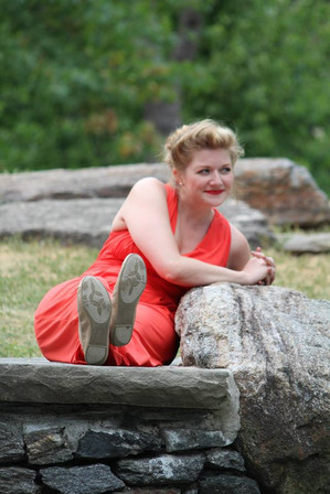 Beatrice in Much Ado About Nothing with Barefoot Shakespeare Company  Photo by Jillian Musarskiy
