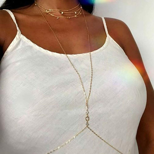 Kama Body Necklace - 14K Gold