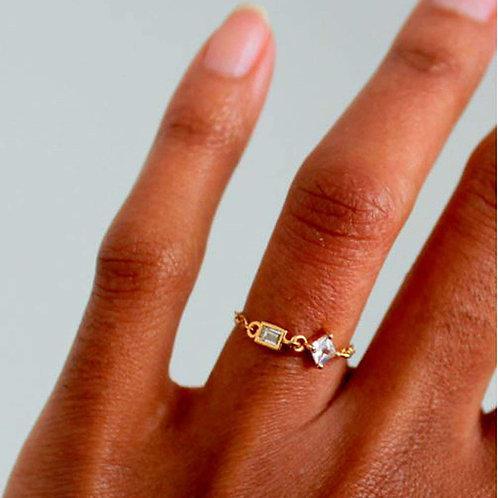 Asymmetric Crown Ring - Silver