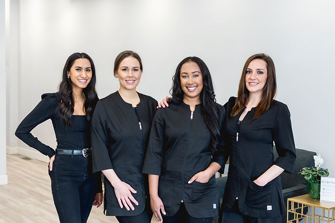 glow beauty bar team photo