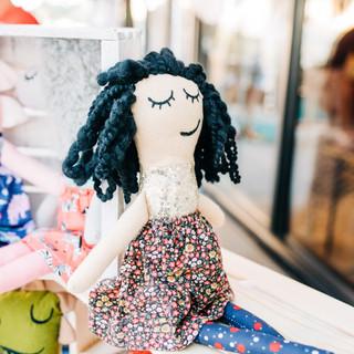 handmade doll from vendor pops of whimsy for sale at boerne handmade market
