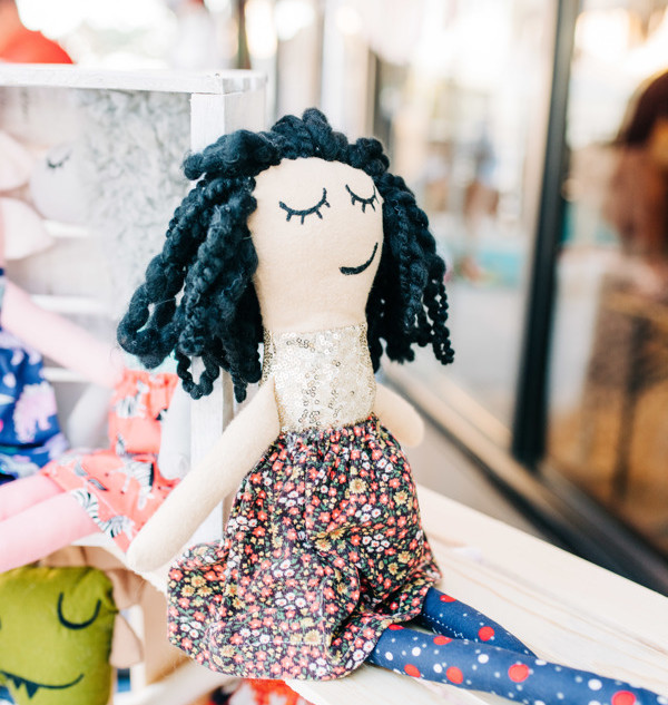 handmade doll from vendor pops of whimsy for sale at boerne handmade market