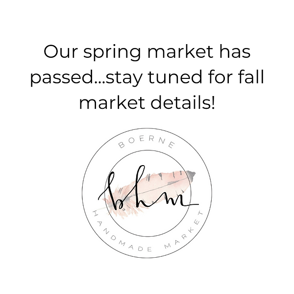 Our spring market has passed...stay tune