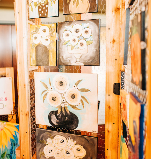original art for sale by gina reese of gina marie's art studio at boerne handmade market