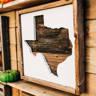wooden texas sign for sale at boerne handmade market