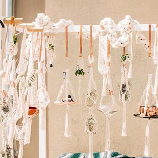 macrame plant hangers for sale at boerne handmade market