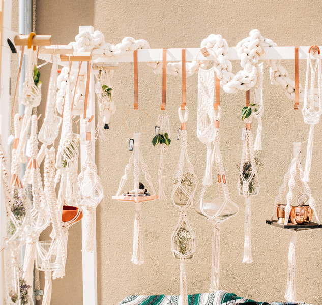 macrame plant hangers for sale at boerne handmade market