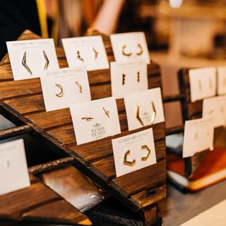 jewelry on display at boerne handmade market