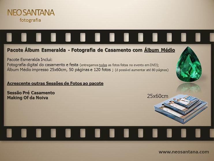 Pacote Esmeralda, Preço de Álbum de Casamento - Fotografia do Casamento e Festa