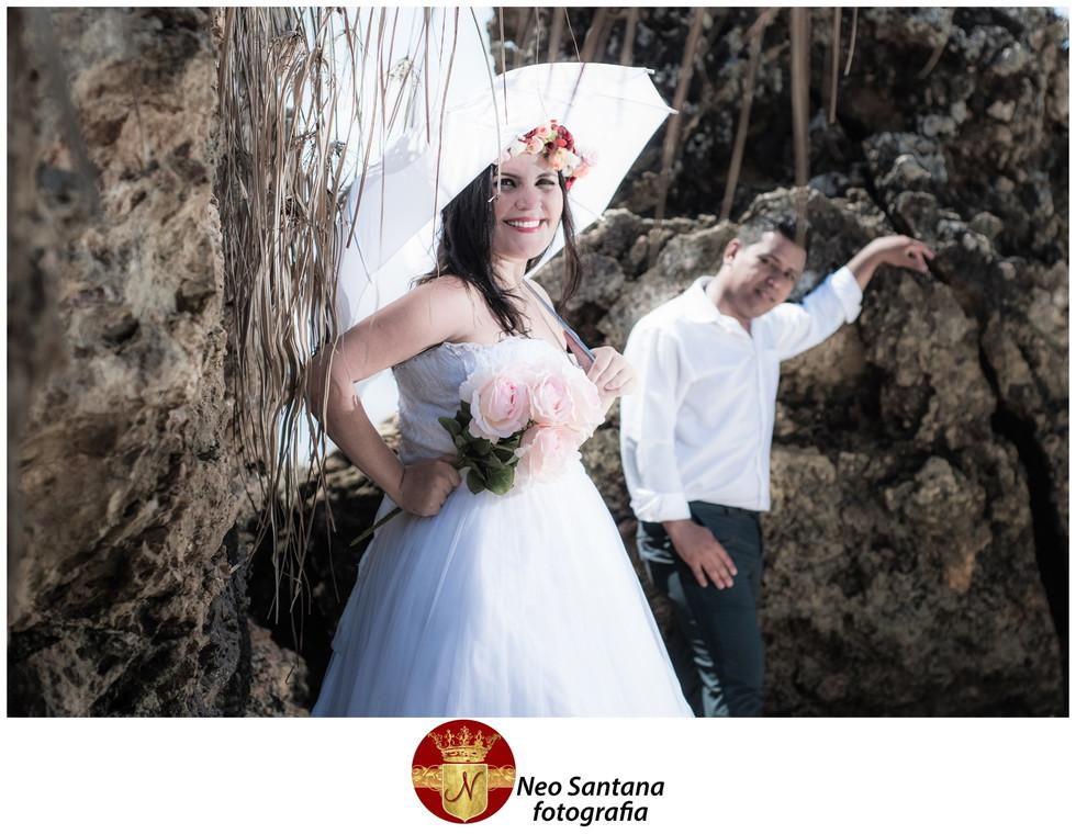 Fotos da Sessão Trash the Dress Elines e Natanael