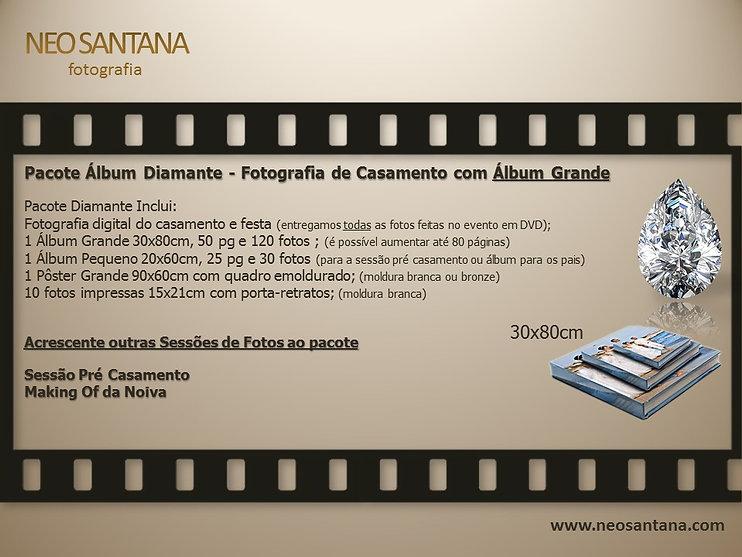 Pacote Diamante. Preço de Álbum de Casamento - Fotografia do Casamento e Festa