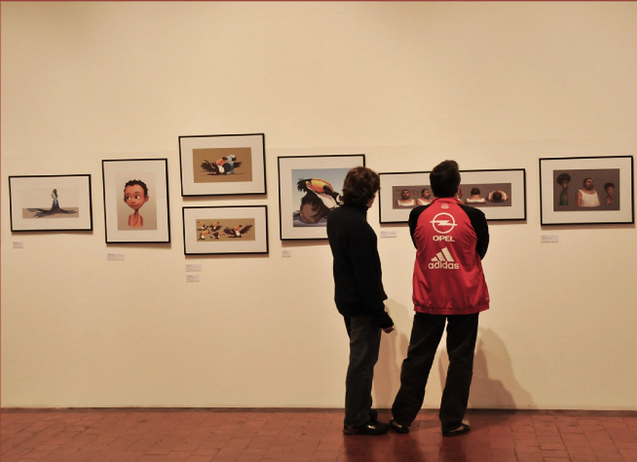 Rio - A arte da animação: Fotografias e Desenhos