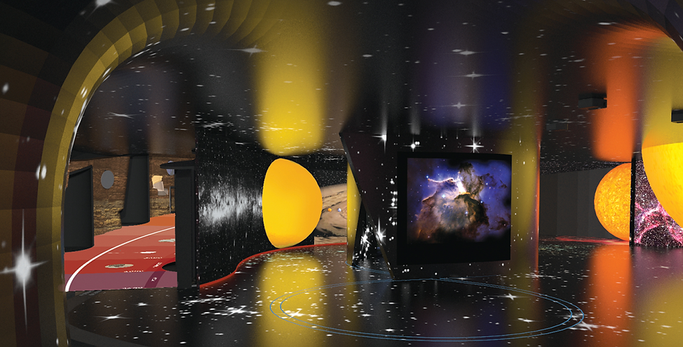 Museu de Ciência e Tecnologia: Via Láctea