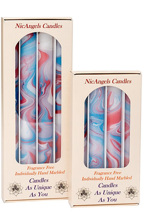 Lavender, Ruby, White & Azure fragrance free candles