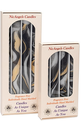 Black, Silver & Gold fragrance free candles