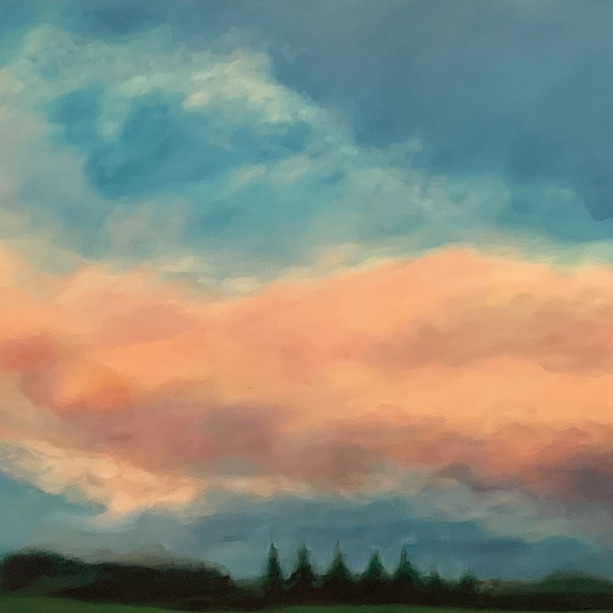 Title: 'Cloud Portrait' Medium: Acrylic on canvas Size: 165cm X 54cm Painting: $4,250 Print: $385 Free freight worldwide