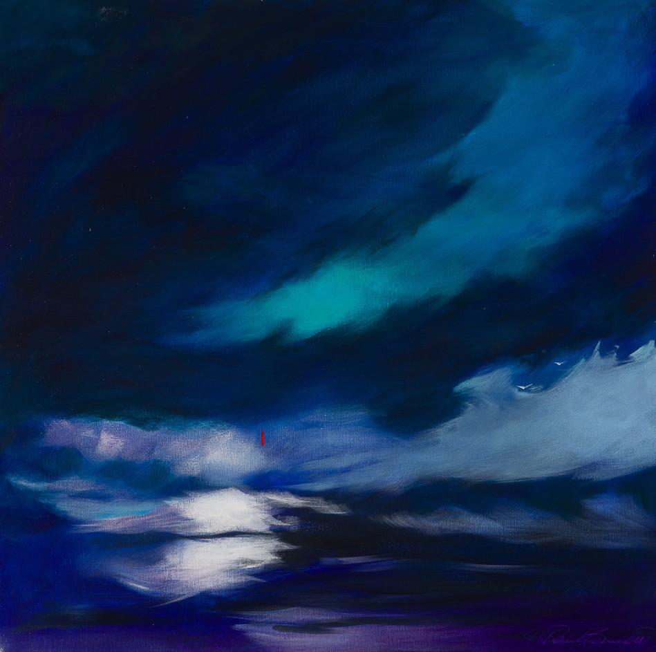 'The Moonlight Swim' 64 cm X 64 cm