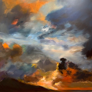 Title: 'Through the Clouds' Medium: Acrylic on canvas Size: 80cm X 80cm Painting: $3,760 Print: $375 Free freight worldwide