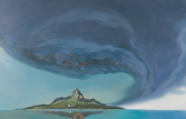 Title: 'Cyclone Mountain' Medium: Acrylic on canvas Size: 165cm X 54cm Painting: $4,250 Print: $385 Free freight worldwide