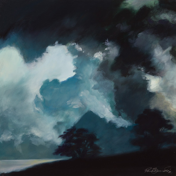 Title: 'Clouds Mountain' Medium: Acrylic on canvas Size: 80cm X 80cm Painting: $1,900 Print: $375 Free freight worldwide