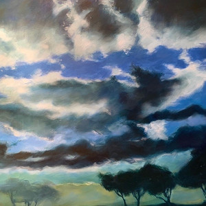 Title: 'A Cloudy Day in Rome' Medium: Acrylic on canvas Size: 85cm X 110cm Painting: $3,860 Print: $375 Free freight worldwide