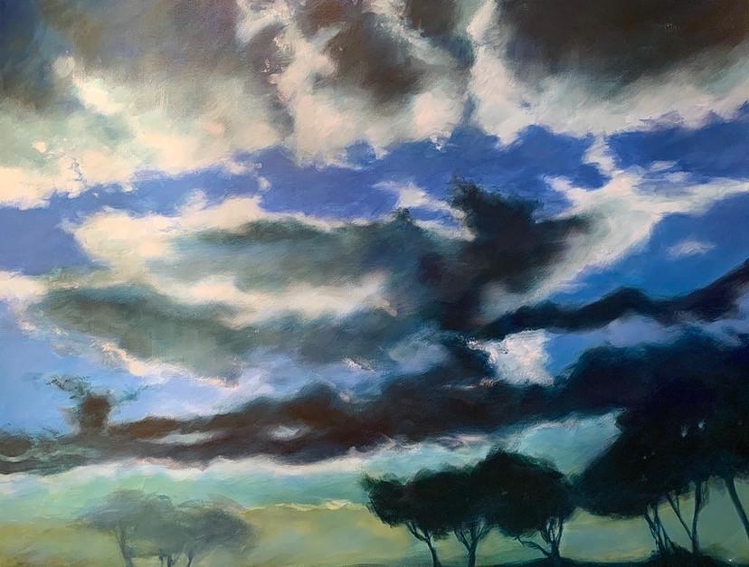 'Cloudy Day in Rome' 85 cm X 110 cm