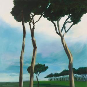 Title: 'Roman Treetops' Medium: Acrylic on canvas Size: 80cm X 80cm Painting: $2,760 Print: $375 Free freight worldwide