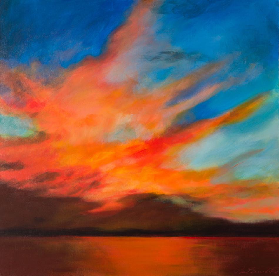 'Red Sunset 75 cm X 75 cm