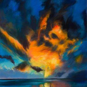 Title: 'Cloud Wars' Medium: Acrylic on canvas Size: 80cm X 80cm Painting: $1,600 Print: $375 Free freight worldwide