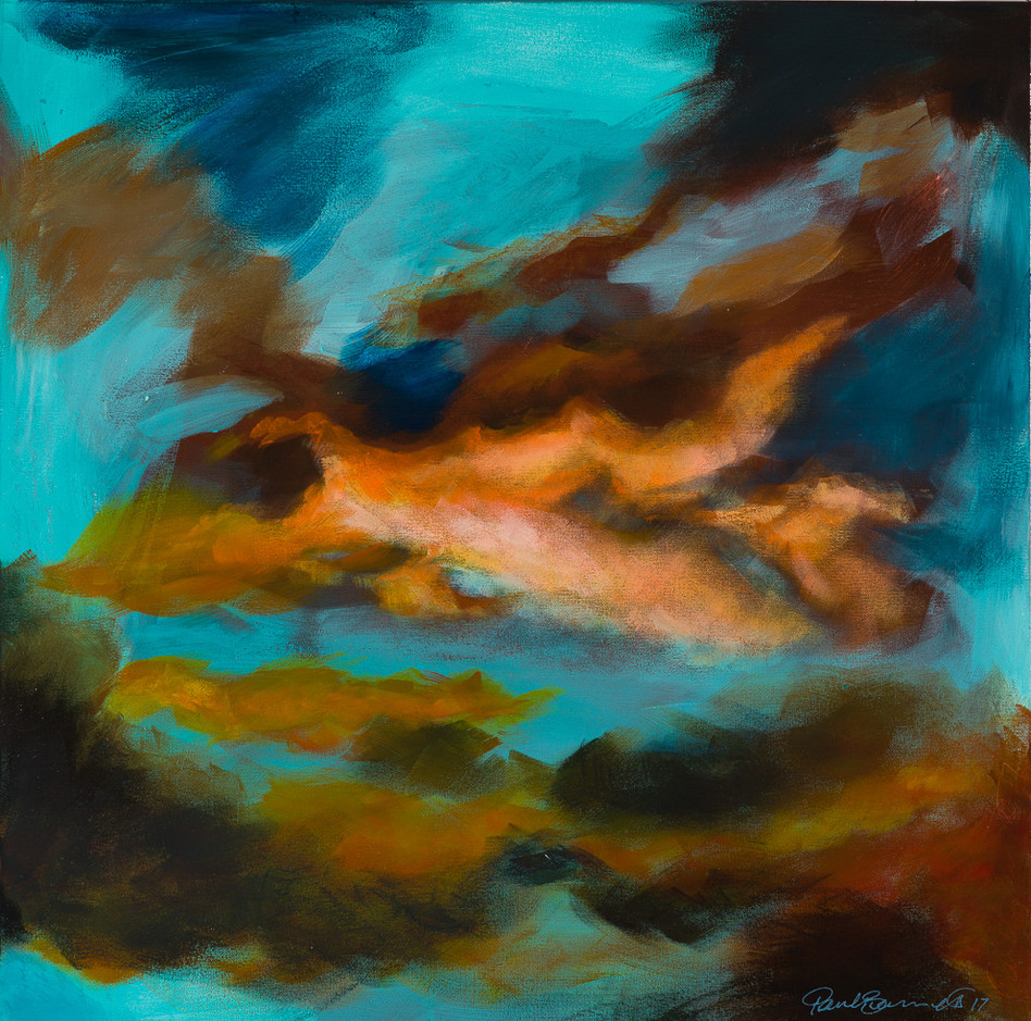 'Cloud Wars' 64 cm X 64 cm