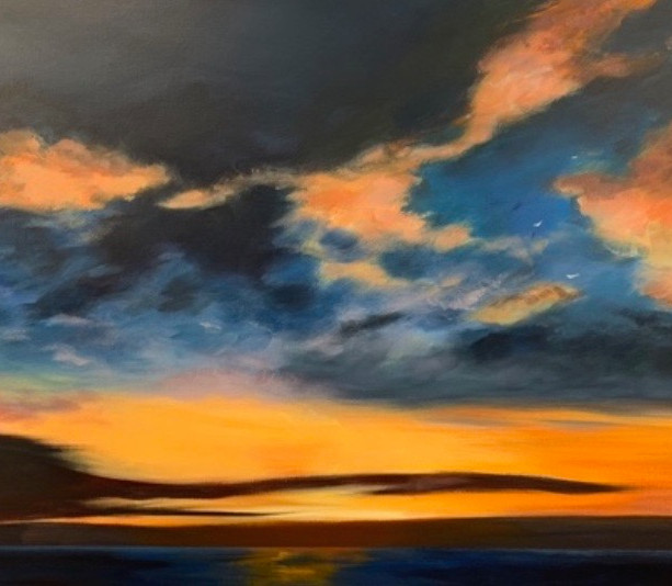 Title: 'As the Sun Sets' Medium: Acrylic on canvas Size: 80cm X 54cm Painting: $1,450 Print: $375 Free freight worldwide