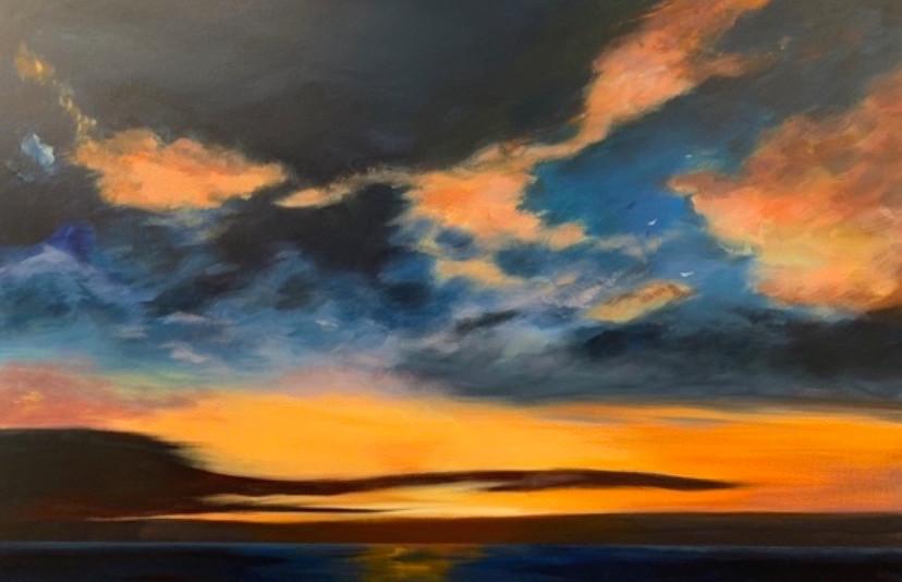 'As the Sun Sets' 54 cm X 80 cm