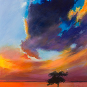 Title: 'Sunset Dreaming' Medium: Acrylic on canvas Size: 80cm X 80cm Painting: $1,600 Print: $375 Free freight worldwide