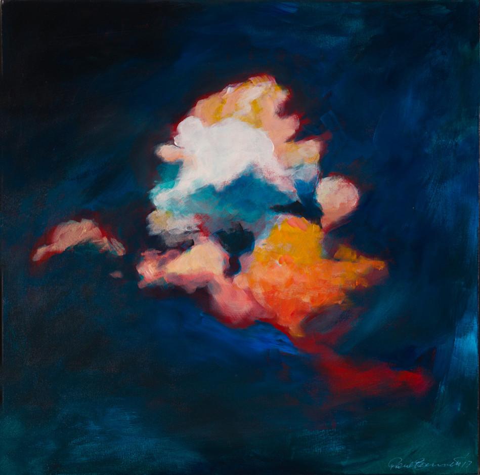'Swan Cloud' 64 cm X 64 cm