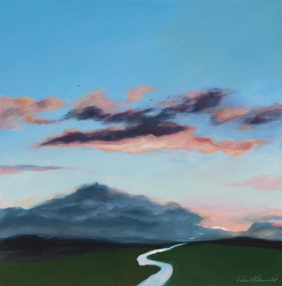 'Cloud Reflections' 64 cm X 64 cm