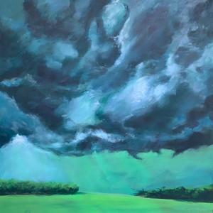 Title: 'Aurora 1' Medium: Acrylic on canvas Size: 64cm X 64cm Painting: $1,600 Print: $375 Free freight worldwide